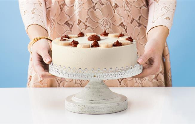 Banánová torta s karamelovo-smotanovým krémom