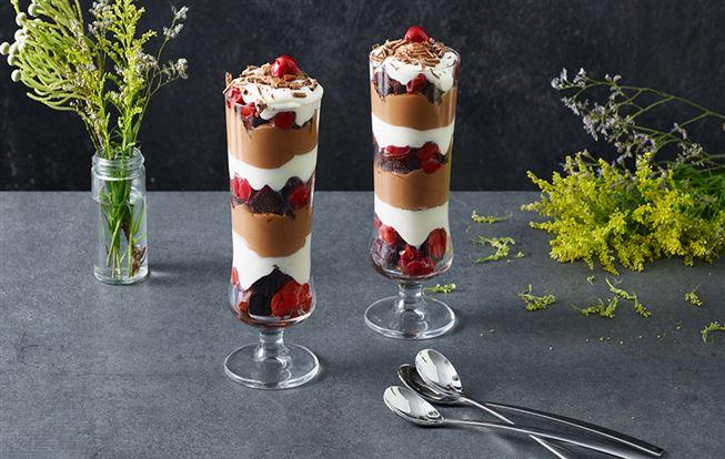 Schwarzwaldská torta ako triffle