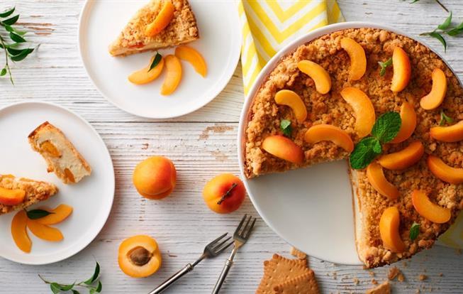 Marhuľový cheesecake s posýpkou