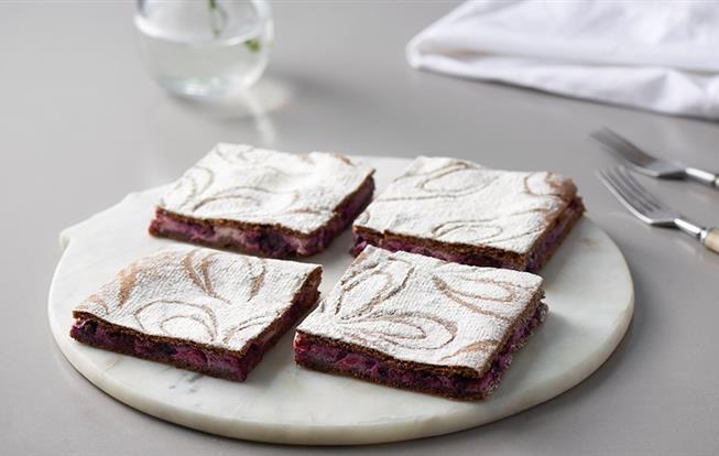 Tvarohový koláč zo špaldovej múky