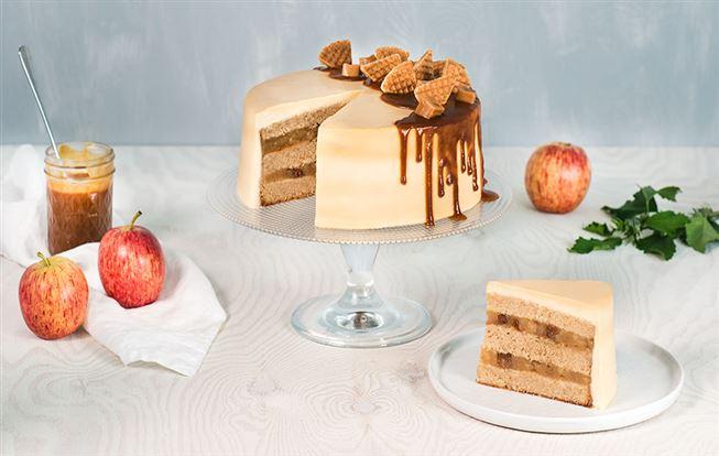 Jablková torta s karamelovým krémom