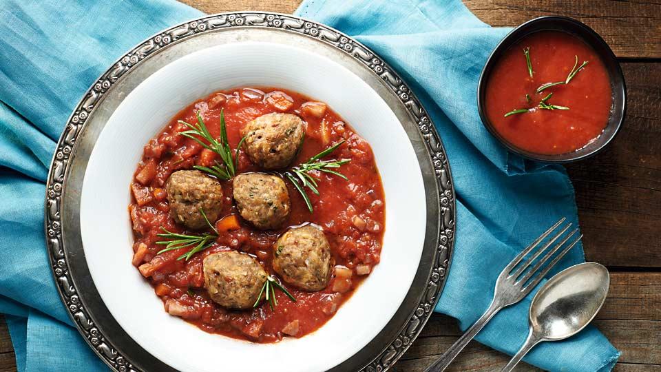 Polpete z mletého mäsa v paradajkovej omáčke