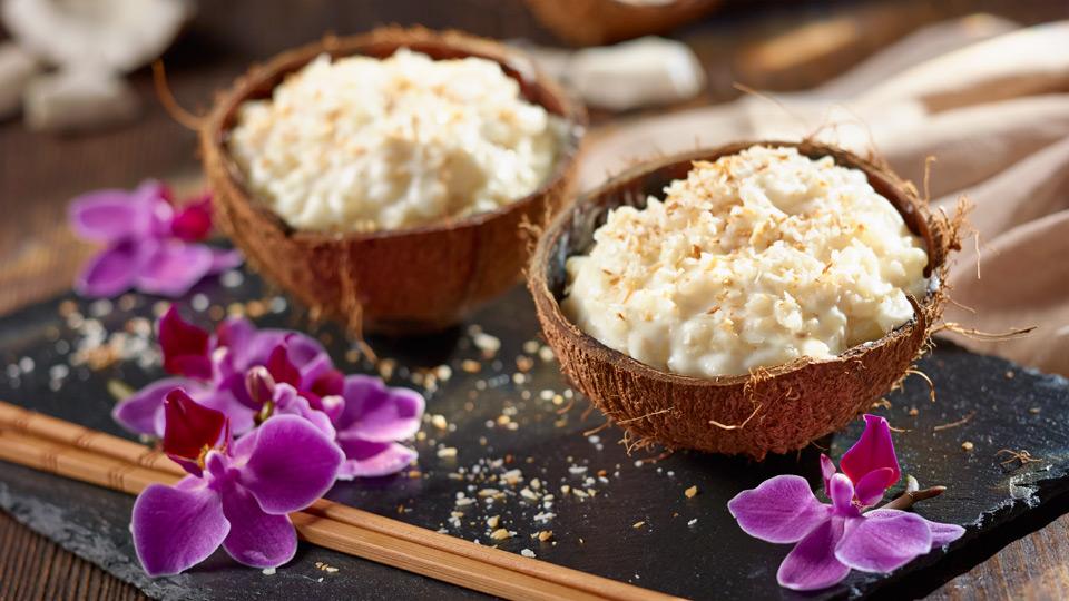 Mliečna ryža s kokosom