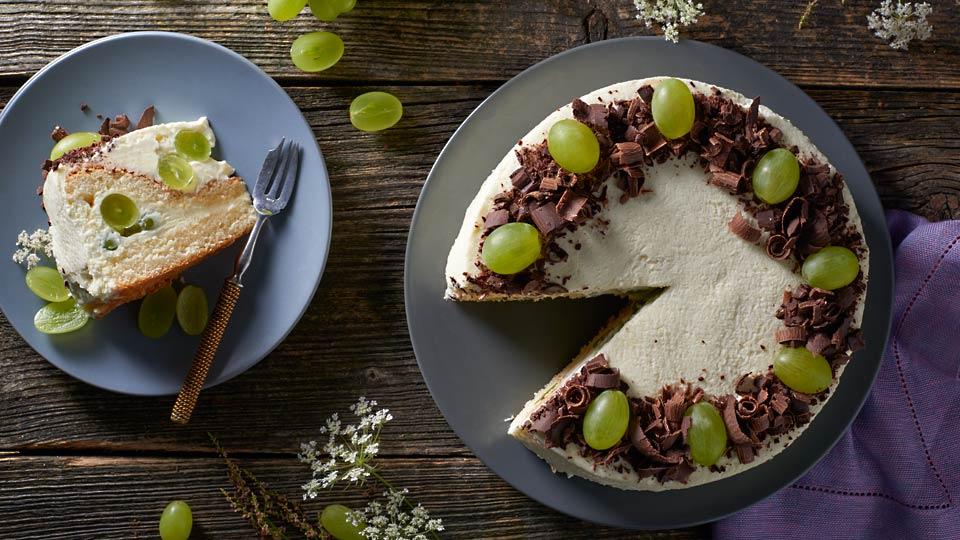 Hroznová torta s tvarohom
