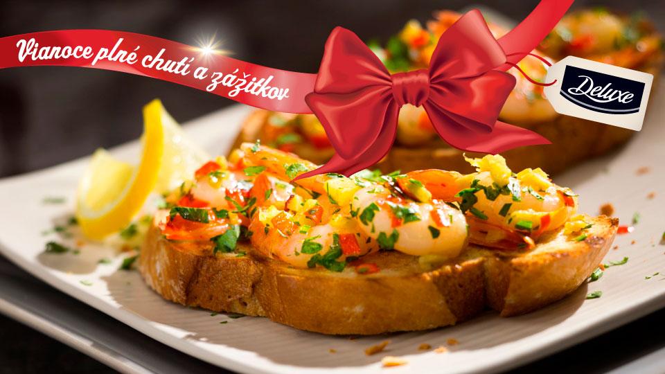 Bruschetty so zázvorovo-citrónovými krevetami