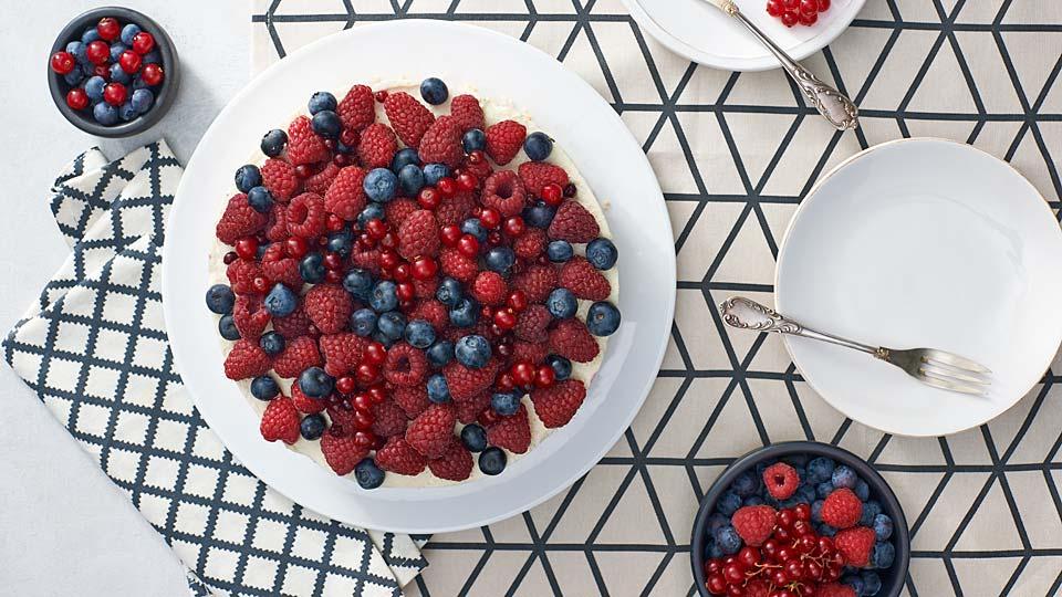 Nepečený ovocný cheesecake
