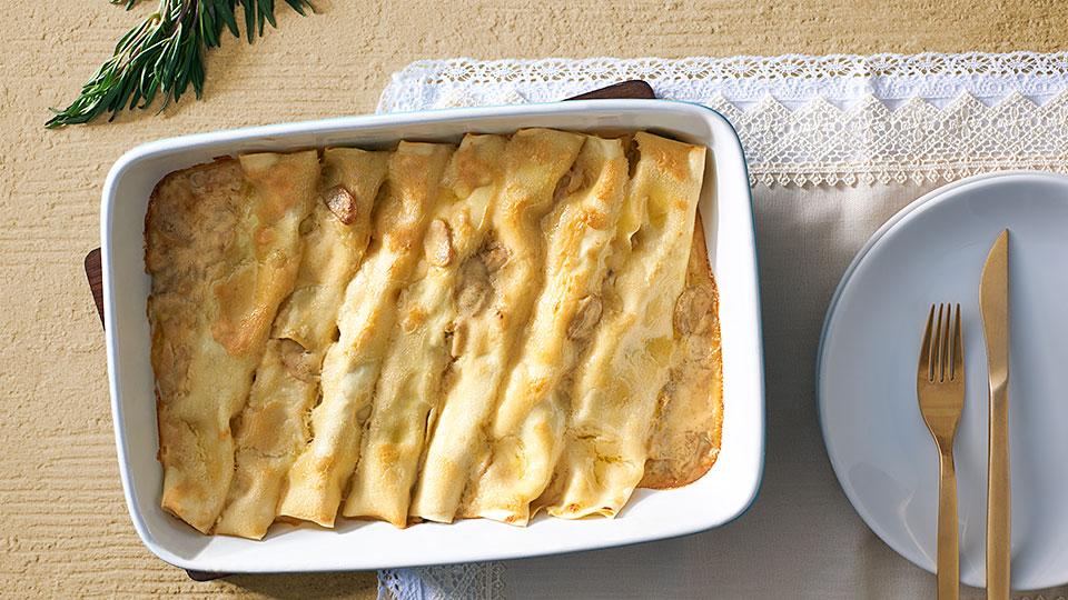 Cannelloni plnené králičím mäsom a špenátom