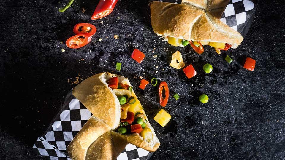 Kaiserky plnené restovanaou zeleninou