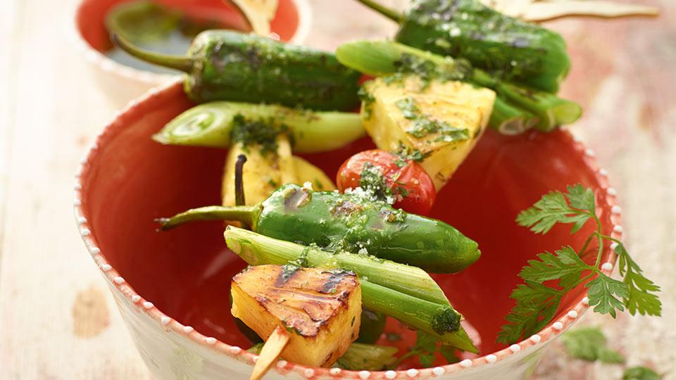 Zeleninový špíz s ananásom