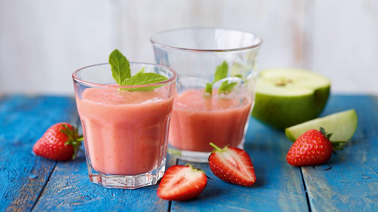Jahodovo-jablkové smoothie