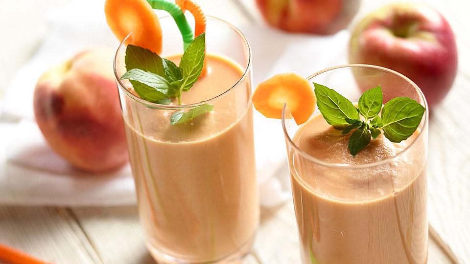 Broskyňovo-mrkvové smoothie