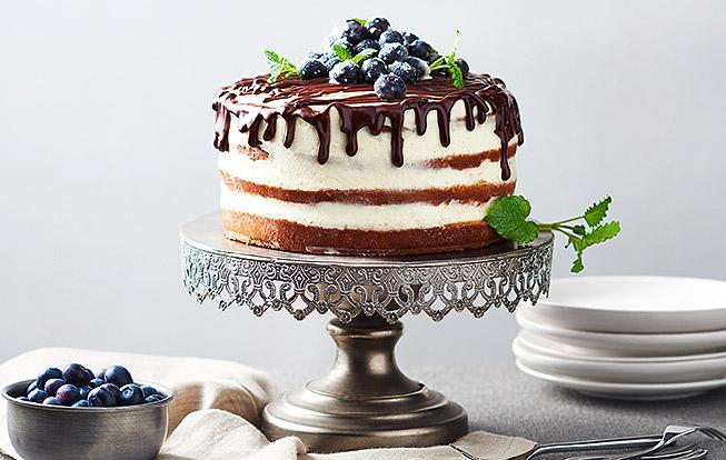 Polonahá čučoriedková torta