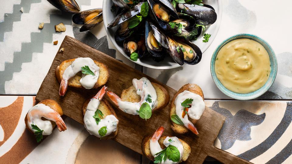 Tapas s morskými plodmi