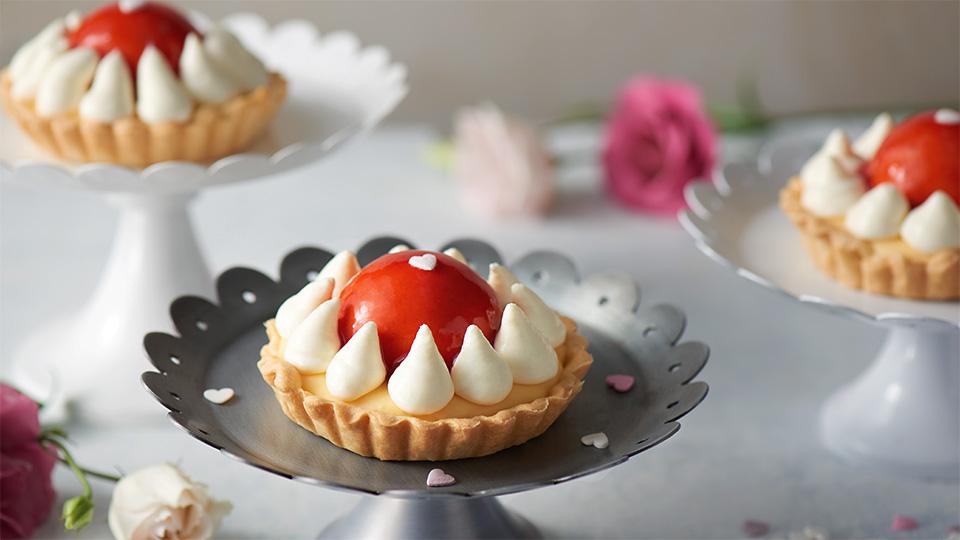 Valentínsky jahodový koláč
