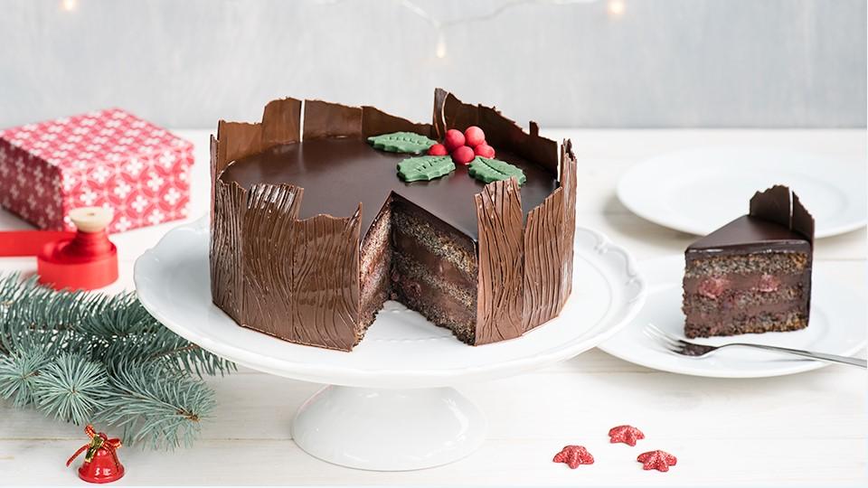 Vianočná čokoládovo-maková torta