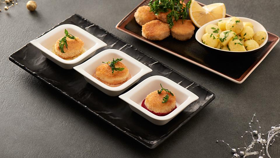 Cordon bleu so zemiakovou kašou