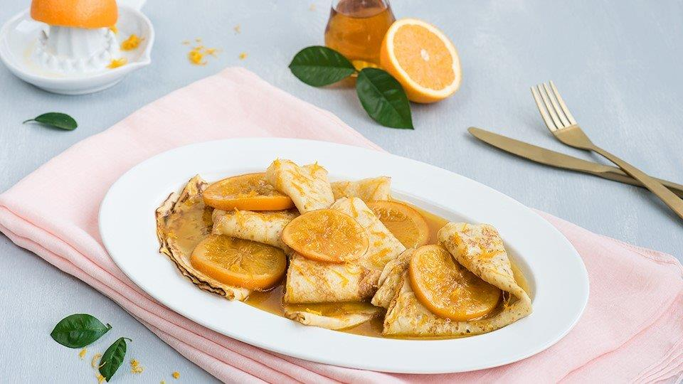 Palacinky crêpes suzette