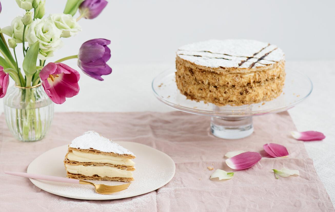 Cremeschnitt - Pudingová torta z lístkového cesta