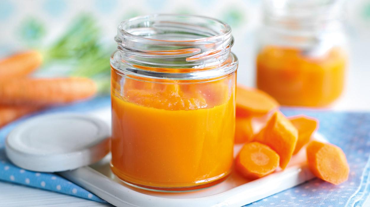 Detská výživa s mrkvou