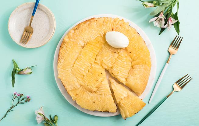 Obrátený ananásový koláč
