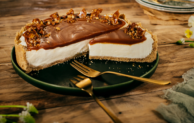 Nepečený jogurtový cheesecake s orieškami