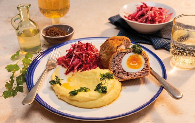 Škótske vajce s kapustovým šalátom