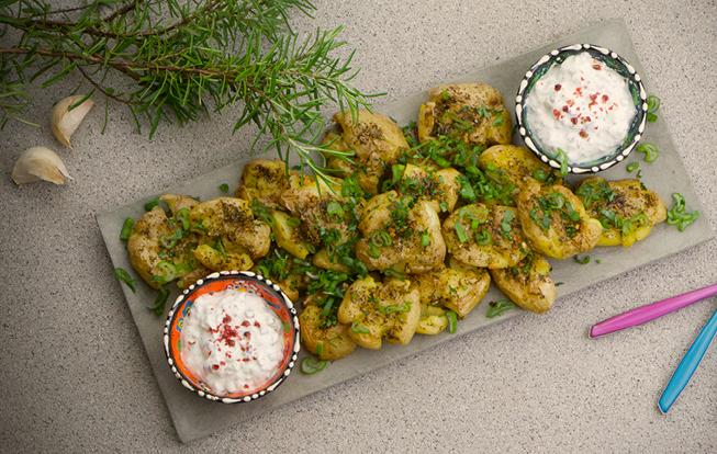 Roztlačené zemiaky s dresingom