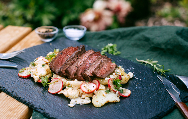 Grilovaný chuck roll steak