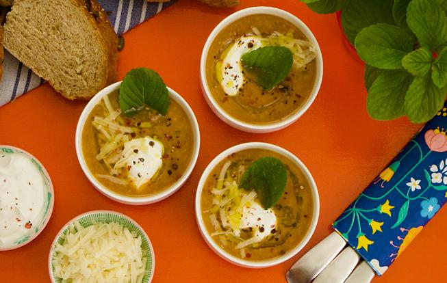 Grilovaná polievka