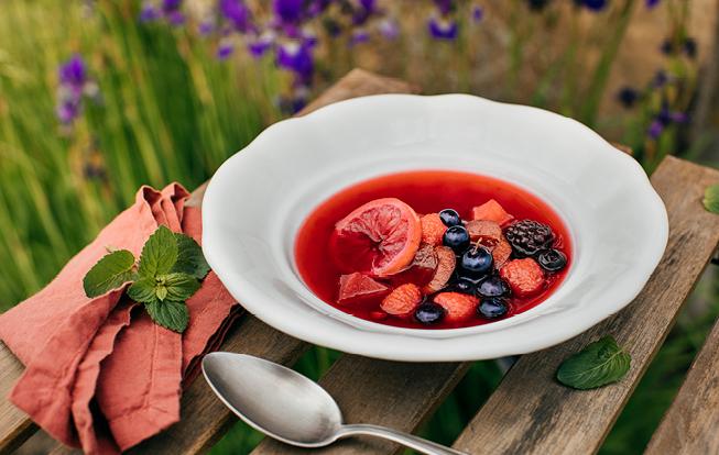 Letná ovocná polievka