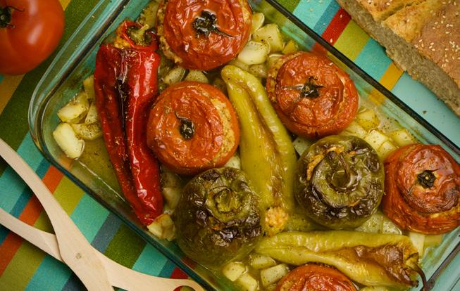 Plnené papriky a paradajky