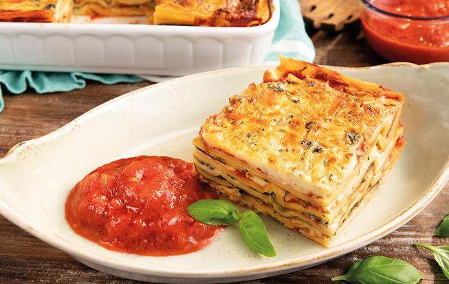 Zeleninové lasagne s cuketou a baklažánom