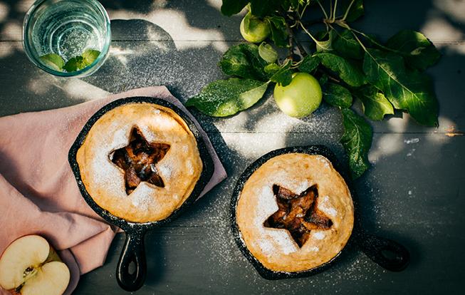 Apple pie – jablkový koláčik v panvičke