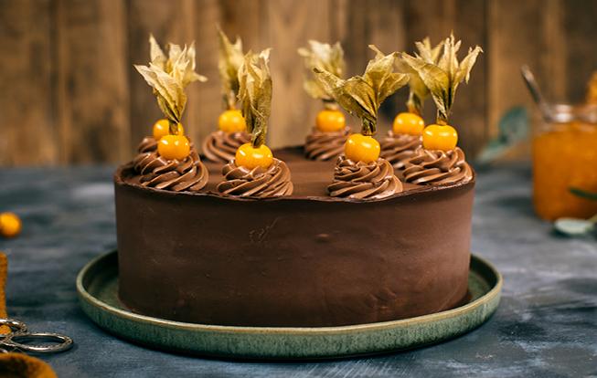 Perníková torta s čokoládou a marhuľovým džemom