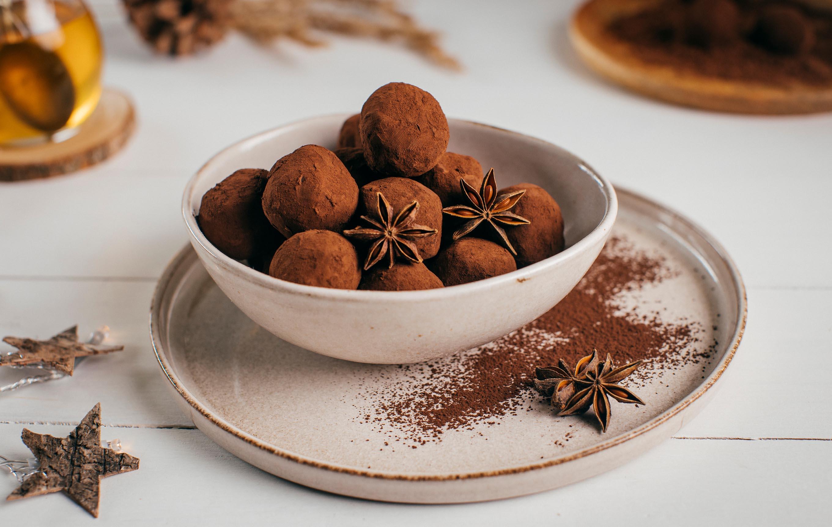 Gaštanové truffles