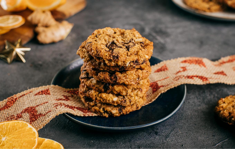 Zázvorové cookies s mandľami a karamelom