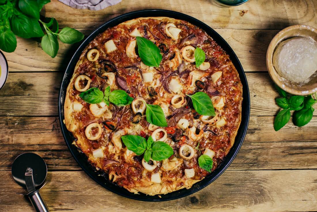 Pizza s morskými plodmi