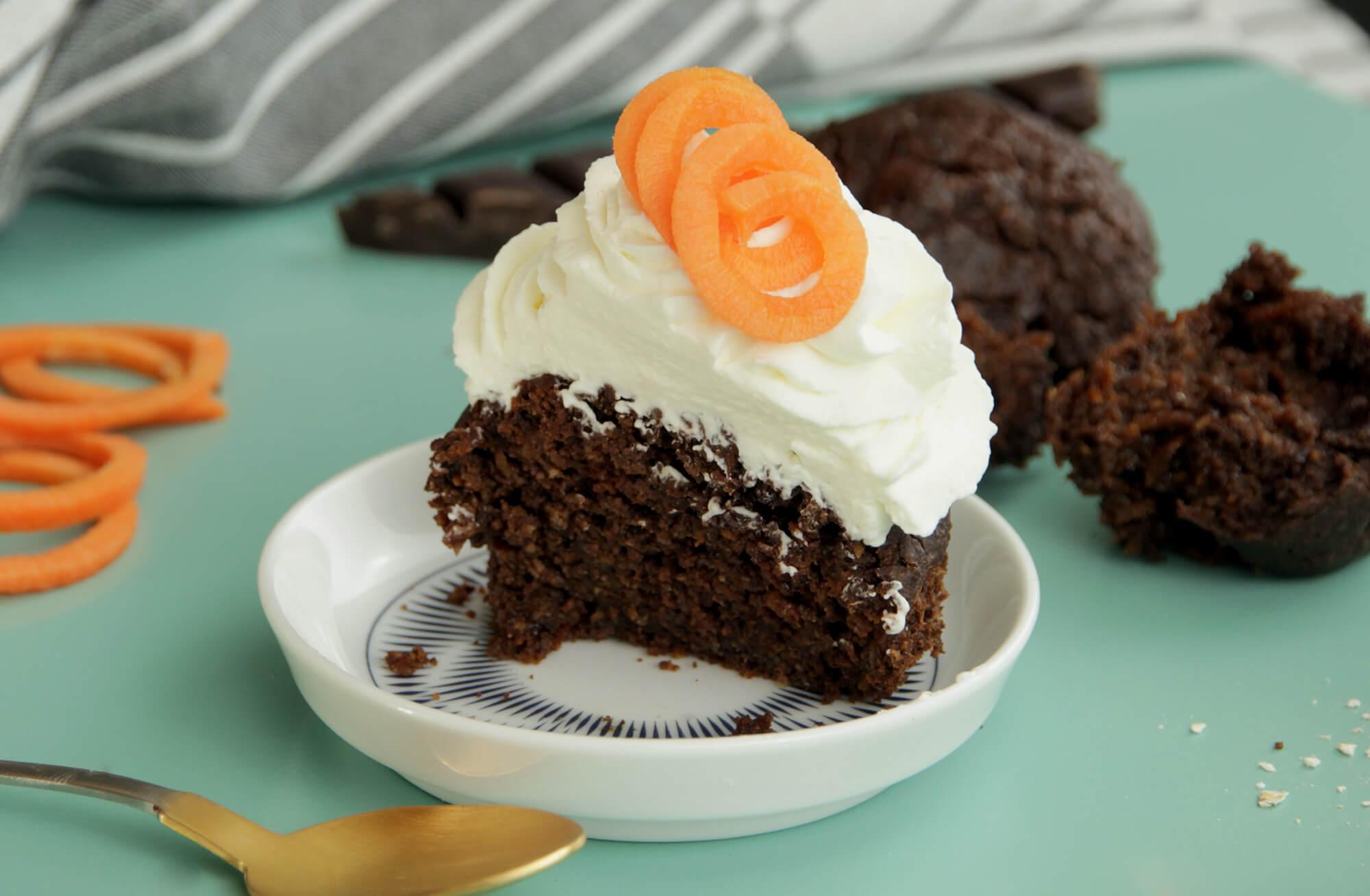 Čokoládovo-mrkvové muffiny z ovsených vločiek