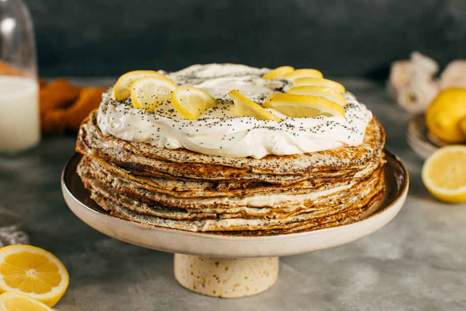 Palacinková maková torta s citrónovým krémom