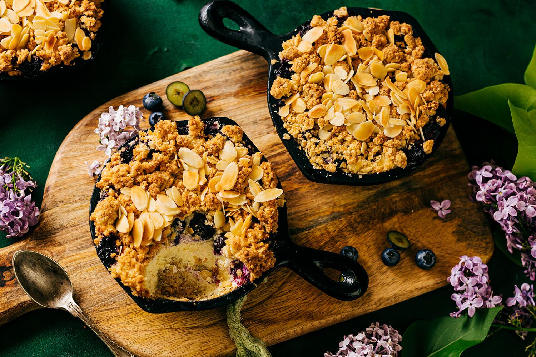Čučoriedkový cheesecake v panvičkách