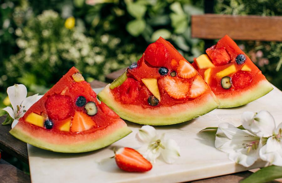 Ovocné želé v melóne