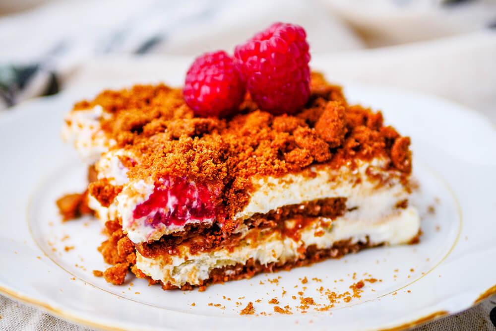 Tvarohový koláč s karamelovými sušienkami
