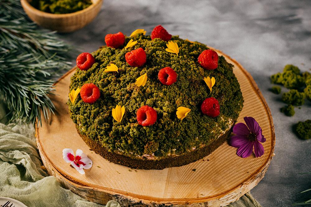 Machová špenátová torta